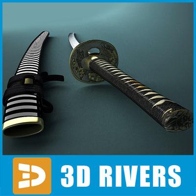 3d samurai sword