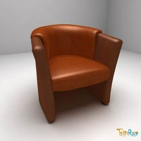 3ds max chair armchair leather