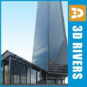3ds shard london bridge skyscraper building