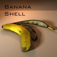 3d model banana shell