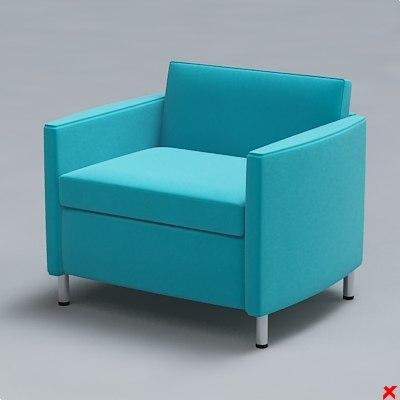 3d armchair chair