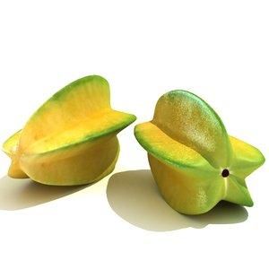 3d star fruit model