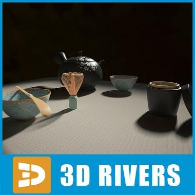 set japanese tea ceremony 3d 3ds