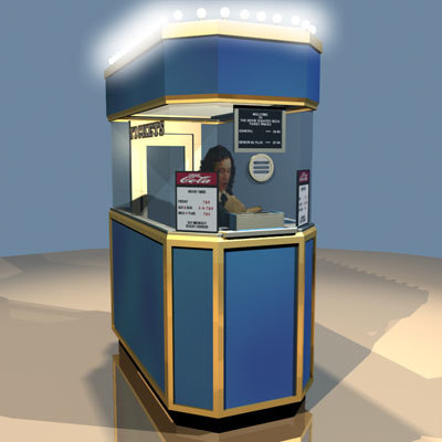 ticket booth movie 01 3d model