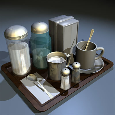 3d model tray prop 01 food