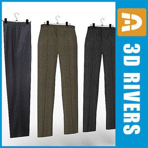trousers set clothes 3d 3ds