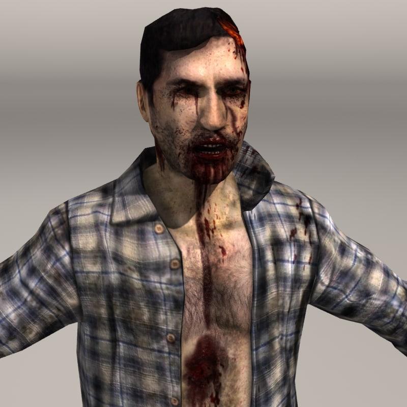 3d zombie zombie01 man