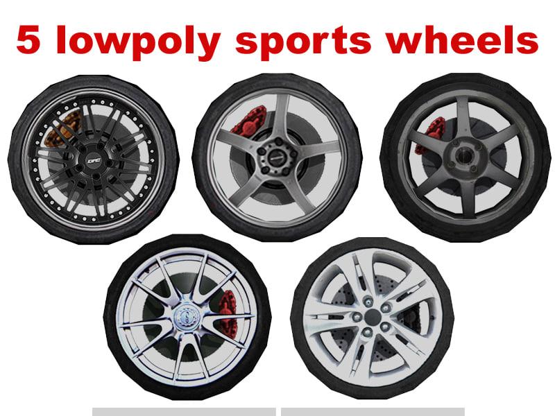 3d max sport wheel