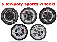 sport wheel lowpoly collection