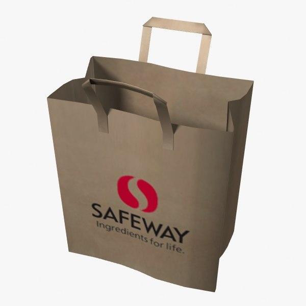 paper shopping bag 3d dxf