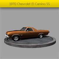 3d 1970 chevrolet el camino model
