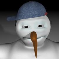 SnowMan Skate  RIGGED