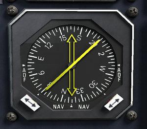 3d radio magnetic indicator