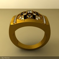 Crown gold ring