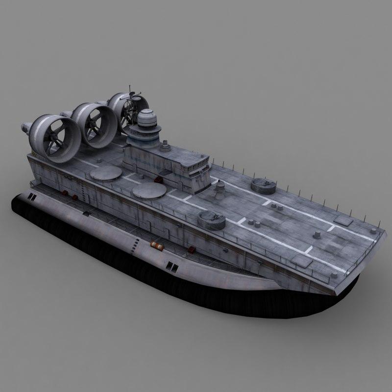 3d model bison amphibian ship vessel