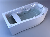 3d bath hydromassage model