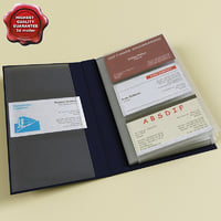 business card holder v2 3d max