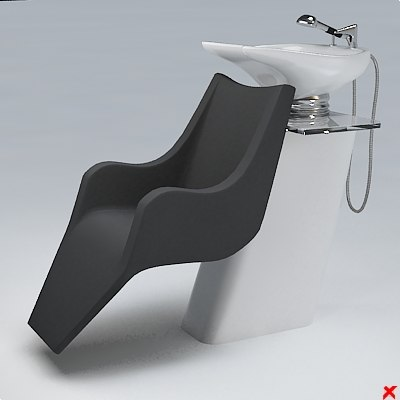 barber chair 3d dxf