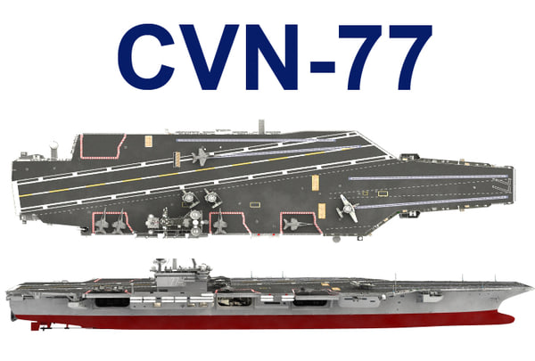 3d model cvn-77 uss george bush