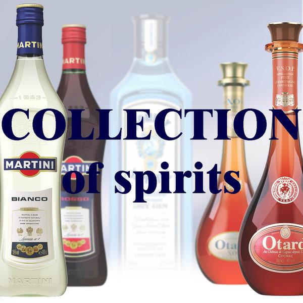 bacardi martini otard 3d model