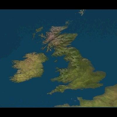 england maps 3d model