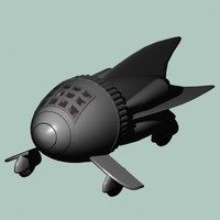 3ds max flash gordons space ship