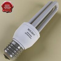 fluorescent lamp v3 3d model
