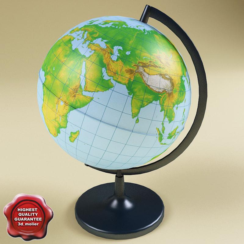 3d model of globe modelled function