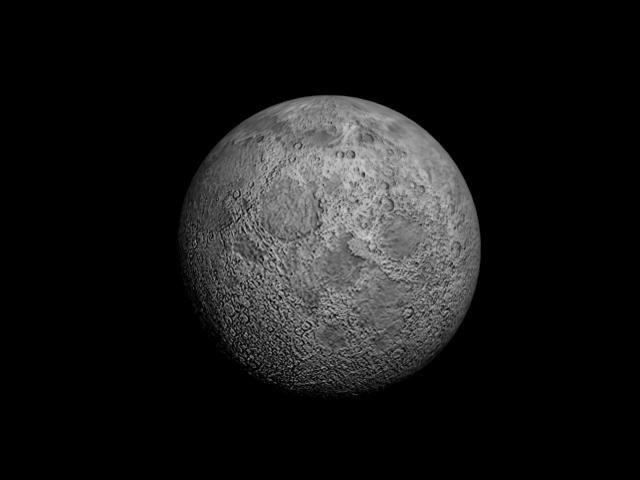 moon space 3d model