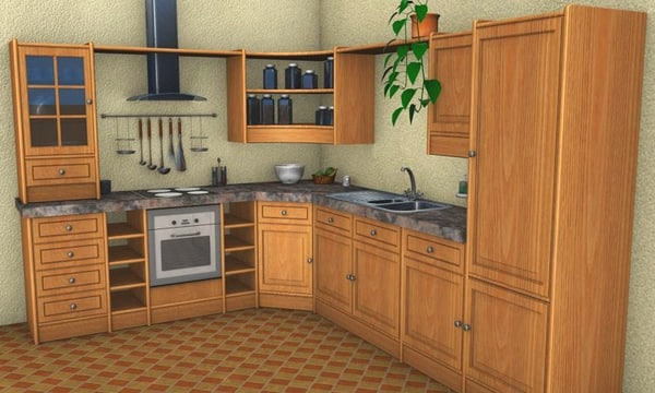 free kitchen 3d model