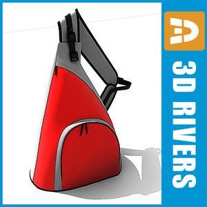 triangular bags 3d max