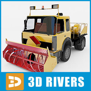 3ds max snow removal machine