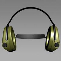 3dsmax mesh msa tactical headphones