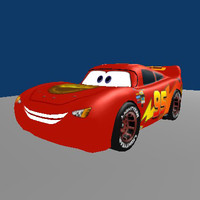 lightning mcqueen 3d model