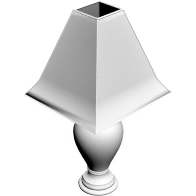 bedside lamp 3d obj