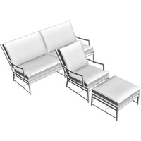 outdoor sofa armchair 3d model