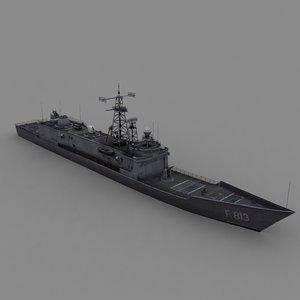 3d model hazard frigate oliver