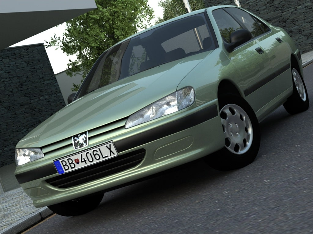 407 sedan 3d model