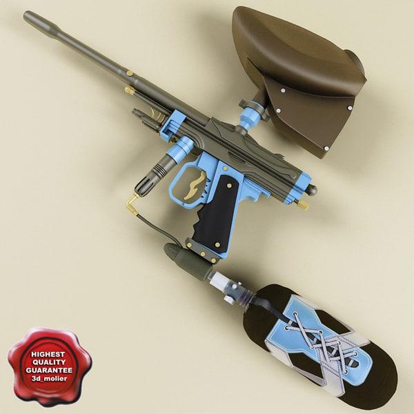 paintball marker aim autococker 3d max
