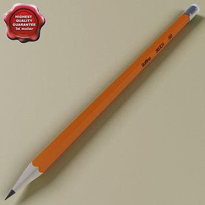 3d model pencil modelled colors