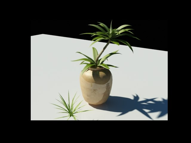 tropical potted plant max