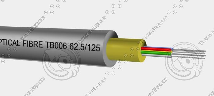 tight buffer cable tb 3d model