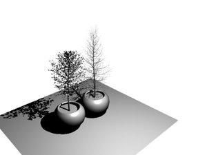 trees 3d obj