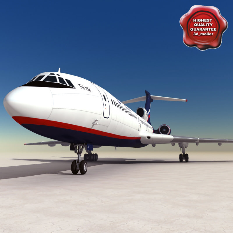 tu 154 careless 3d model