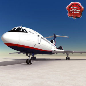 tu 154 careless 3d model