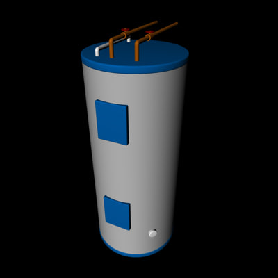 hot water heater 3d 3ds