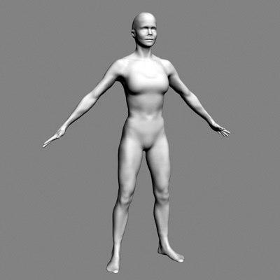 woman scan 3d model