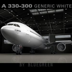 airbus a330-300 generic plane 3d model