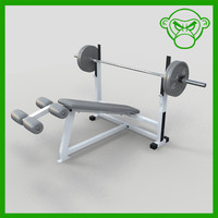 3d model of bench decline
