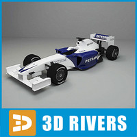 3d race car f1 driver